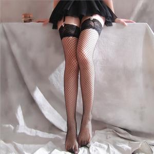情趣内衣透明长筒袜日系吊带渔网袜吊袜带性感诱惑蕾丝超薄大腿袜