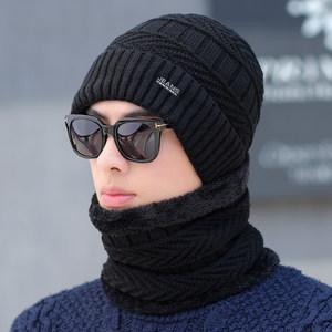 <span class=H>帽子</span>男士冬天保暖防风毛线帽青年针织帽加绒套帽冬季骑车护耳帽棉