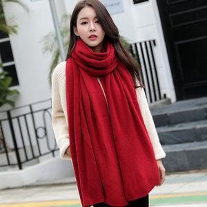 手工有机情侣绒线常规棉线纯正混纺针线大红色毛线<span class=H>围巾</span>时尚材料