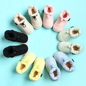 儿童棉<span class=H>拖鞋</span>冬男童可爱防滑保暖1-3岁2包跟宝宝棉鞋外穿女童亲子鞋