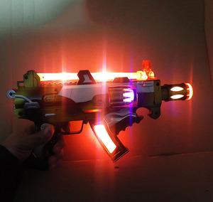 儿童宝宝电动<span class=H>玩具枪</span>声光音乐小孩男孩冲锋机关枪道具手枪2-3-6岁