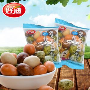 好迪多彩豆 鱼皮花生散装小包装 多味裹衣海苔花生日本豆休闲零食