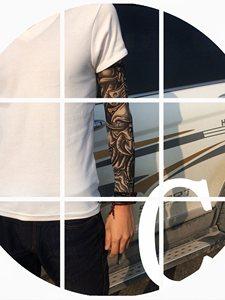 夏季套袖肉色袖无缝肉袖子袖套刺青<span class=H>腿套</span>臂束管带带<span class=H>腿套</span>束管带