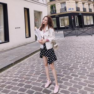 徐琳mini 不规则短裙夏季女2018新款韩版chic港味波点时尚半身裙