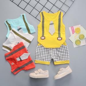 儿童裤衩男童坎袖男宝宝夏天小男孩棉质小<span class=H>背心</span>夏季婴儿超薄款套装