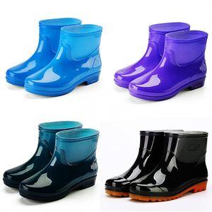 水鞋<span class=H>女鞋</span>子<span class=H>雨靴</span>防滑短筒塑料胶鞋低筒加绒防<span class=H>雨鞋</span>防水鞋牛筋底鞋