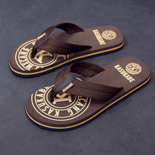 Slippers Men's Summer Beach Shoes Wear Cloth-strapped Individual Sandals Outdoor Slippers with Moisture and Soft soles and Anti-skid Flippers