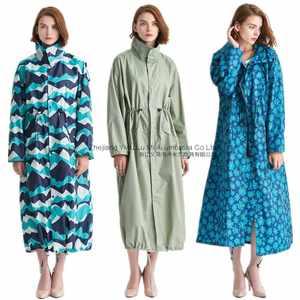 2018新款秋季女士中长款风衣<span class=H>雨衣</span>超长过膝韩版男士披风时尚雨披