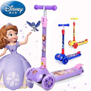 迪士尼儿童<span class=H>滑板车</span>2三四轮摇摆小孩宝宝溜溜滑滑车6岁10苏菲亚公主