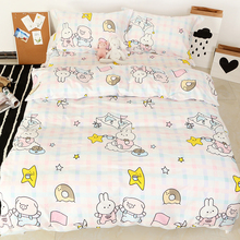 Processing Customized Pure Cotton Quilt Set One-piece Summer 100% All Cotton Cartoon Student Quilt Cover Kindergarten Small Fresh ins