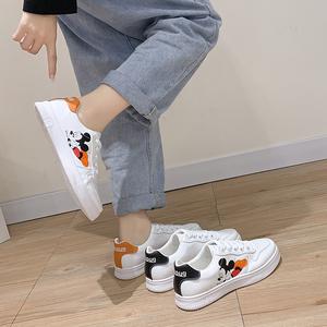 米奇小白鞋女2020春季百搭运动休闲鞋学生平底板鞋网红鞋子帆布鞋