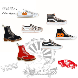 VANS范斯<span class=H>鞋子</span>金屬徽章街頭滑板運動潮牌DIY個性胸針背包時尚飾品