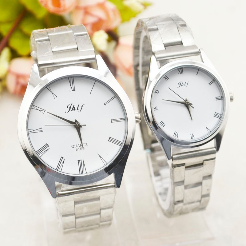The current current steel of Jian Yue men and women takes the wrist form students lovers hand number watch in clock Rome Malaysia