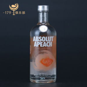 瑞典<span class=H>伏特加</span>蜜桃味 绝对蜜桃<span class=H>伏特加</span>Absolut apeach VODKA 洋酒烈酒