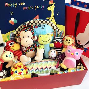 婴儿用品宝宝玩具礼盒满月百天玩具礼盒套装婴幼儿游戏毯<span class=H>母婴</span>礼品