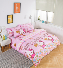 Cartoon four-piece dormitory cotton cotton 1.5m bed, hatch, sheet, quilt, 1.2 children's bedding, three-piece set, 4-piece