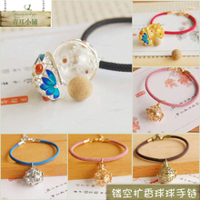 Mori small fresh hollow carving can open the fragrant balloon Bracelet retro aromatherapy Ball Bracelet summer Jewelry New Style