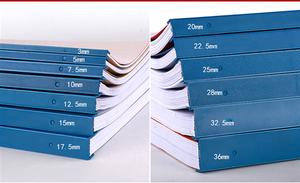 标机设备办公<span class=H>耗材</span>图压边条夹子扣十孔压条分类装装一盒
