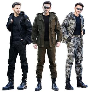 军野行户外休闲野战军迷<span class=H>服装</span>101空降师特种兵迷彩服风衣套装男