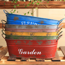 Creative balcony decoration basin pastoral style to make old dried flower pots