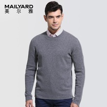 MAILYARD/MAILYARD Men's Sweater Pure Wool Business Leisure Men's Pullover Round Neck Sweater 140