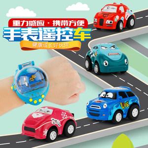 抖音同款社会人手表遥控小汽车儿童迷你表带重力感应跑车玩具礼物