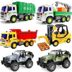 垃圾环卫车儿童惯性吉普越野<span class=H>汽车</span>玩具小男孩翻斗大卡车模型叉车