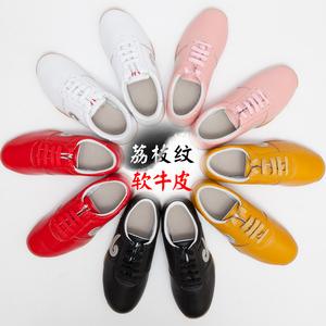 大辫子<span class=H>太极鞋</span>男软牛皮牛筋底女冬季太极功夫鞋武术鞋太极拳练功鞋