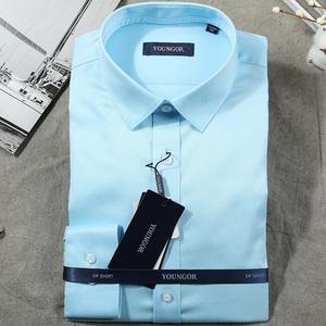 雅戈尔新款男士正装商务衬衫修身免烫抗皱<span class=H>衬衣</span>YLDD110020GFY