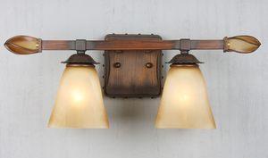 圣嘉佰利柏利款式<span class=H>镜前灯</span>欧式美式乡村铁艺云彩玻璃卫浴镜柜灯具