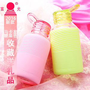 富光单层玻璃杯 可爱便携时尚防漏男女士学生水杯子 彩色创业<span class=H>茶杯</span>
