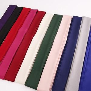 新款纯色2米长飘带女夏季百搭装饰丝带柔软细窄墨绿色韩国小<span class=H>领带</span>