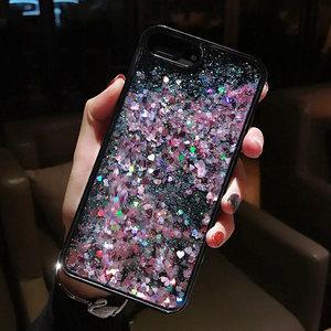 <span class=H>苹果</span>iPhone5s6s<span class=H>苹果</span>X日韩爱心星星液体流动流沙创意6plus手机壳SE