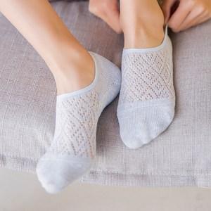 夏季<span class=H>袜子</span>女薄款浅口纯棉船袜硅胶防滑隐形袜镂空透气低帮防臭短袜