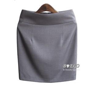 西装裙正装裙女装一步裙OL工作裙职业裙显瘦包臀半身裙灰色<span class=H>短裙</span>夏
