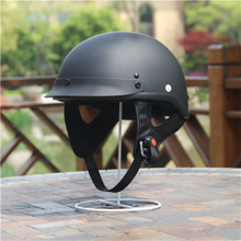 AMZ Halley Locomotive Motorcycle Half Helmeted Electric Vehicle Retro Helmets Men Summer Half Covered Sunscreen Safety Cap