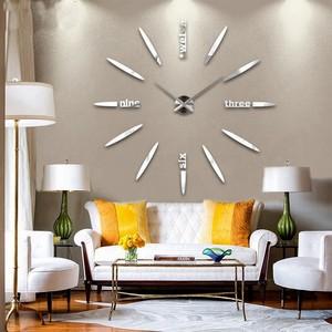 现代简约超大尺寸石英挂钟创意静音<span class=H>DIY</span>个性时尚装饰墙贴客厅钟
