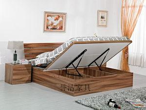 简约现代床板式家具 定制 特价气压床单 双人储物床 高箱储物床