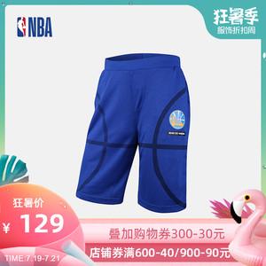 NBA Style潮流服饰 金州勇士队 夏季男款短裤松紧运动中长裤/短裤