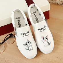 Little White Shoes Female Spring and Autumn 2009 Tide Shoes with Hand-painted Canvas Shoes