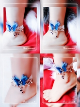 Buy one-for-one-delivery-one-antique bell-clang foot-chain Female retro-sen Beauty Butterfly foot-chain Sexy Liusu Palace bell-clang foot-ring