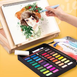 乔尔乔内36色固体<span class=H>水彩</span>颜料套装<span class=H>水彩</span>画学生手绘儿童初学者美术工具