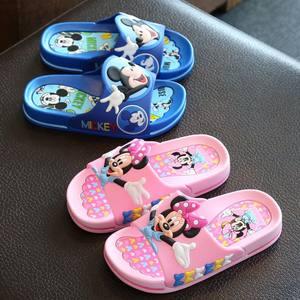 迪士尼<span class=H>儿童</span>凉拖鞋小童中童男童<span class=H>女</span>童防滑居家室内幼儿宝宝软底拖鞋