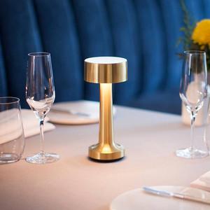 创意新款美式充电LED餐厅触摸<span class=H>台灯</span>酒吧酒店咖啡厅桌灯卧室<span class=H>床头灯</span>