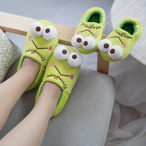 卡通棉鞋<span class=H>儿童</span>居家男<span class=H>女</span>童冬季保暖防滑防水亲子款宝宝包根棉拖鞋