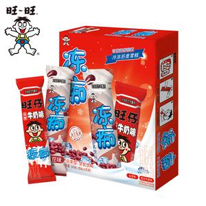 旺旺旺仔牛奶味冻痴网红冰淇淋雪糕碎冰冰棒棒冰饮料85ml*4*2*