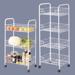 厨房置物架厨房<span class=H>用品</span>蔬菜架子储物收纳架菜篮筐装放菜架书架浴卧室