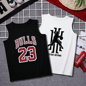 夏季男士纯棉<span class=H>背心</span>潮牌健身运动宽松青年潮流跨栏坎肩篮球无袖t恤