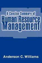 Pre-sale A Concise Summary of Human Resource Management