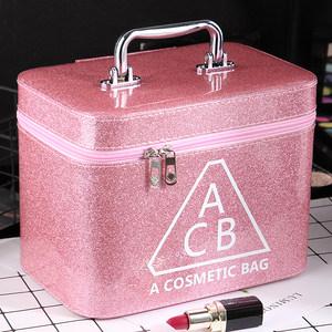 化妆包大容量小号便携韩国简约可爱少女心收纳盒品大号<span class=H>化妆箱</span>手提